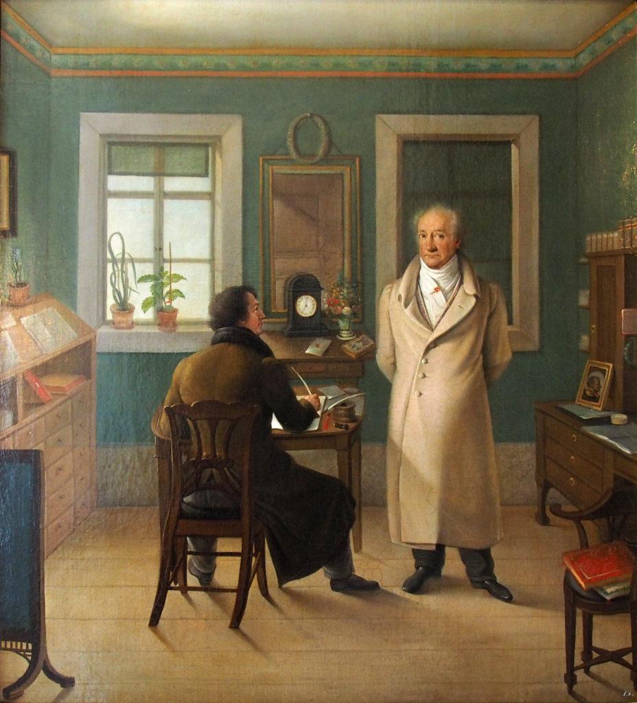 Goethe i sitt arbeidsværelse med skriveren John