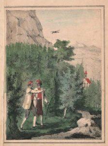 Figur 7. Sagnillustrasjon til Fayes «Hedals Kirke i Valders» . 2. utg. av Nor 1843