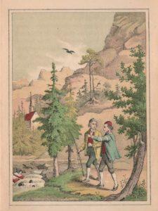 Figur 8. Sagnillustrasjon til Fayes «Hedals Kirke i Valders». 3. utg. av Nor 1865
