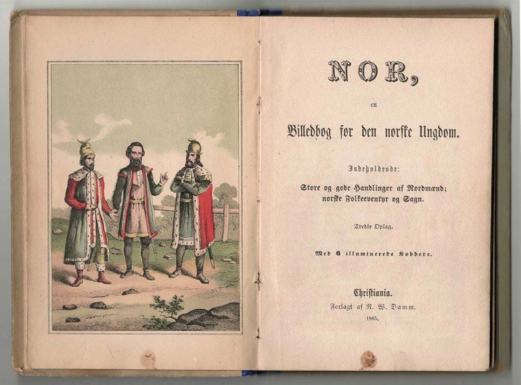 Figur 5b. Tittelside til 3. utg. av Nor 1865