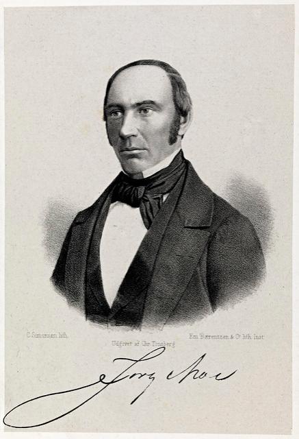 Portrett av Jørgen Moe (1813-1882). Litografi. Nasjonalbiblioteket, Oslo.