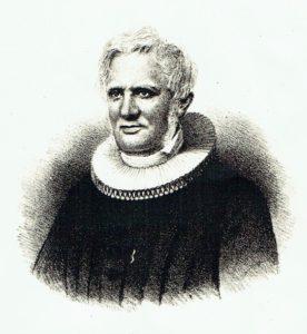Figur 1. Sogneprest Andreas Faye.<br/>  Tegnérs Lithographiske Institut, 1857