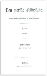 Figur 4. Faksimile av månedsskriftet Den norske Folkeskole utgitt av Ole Vig.