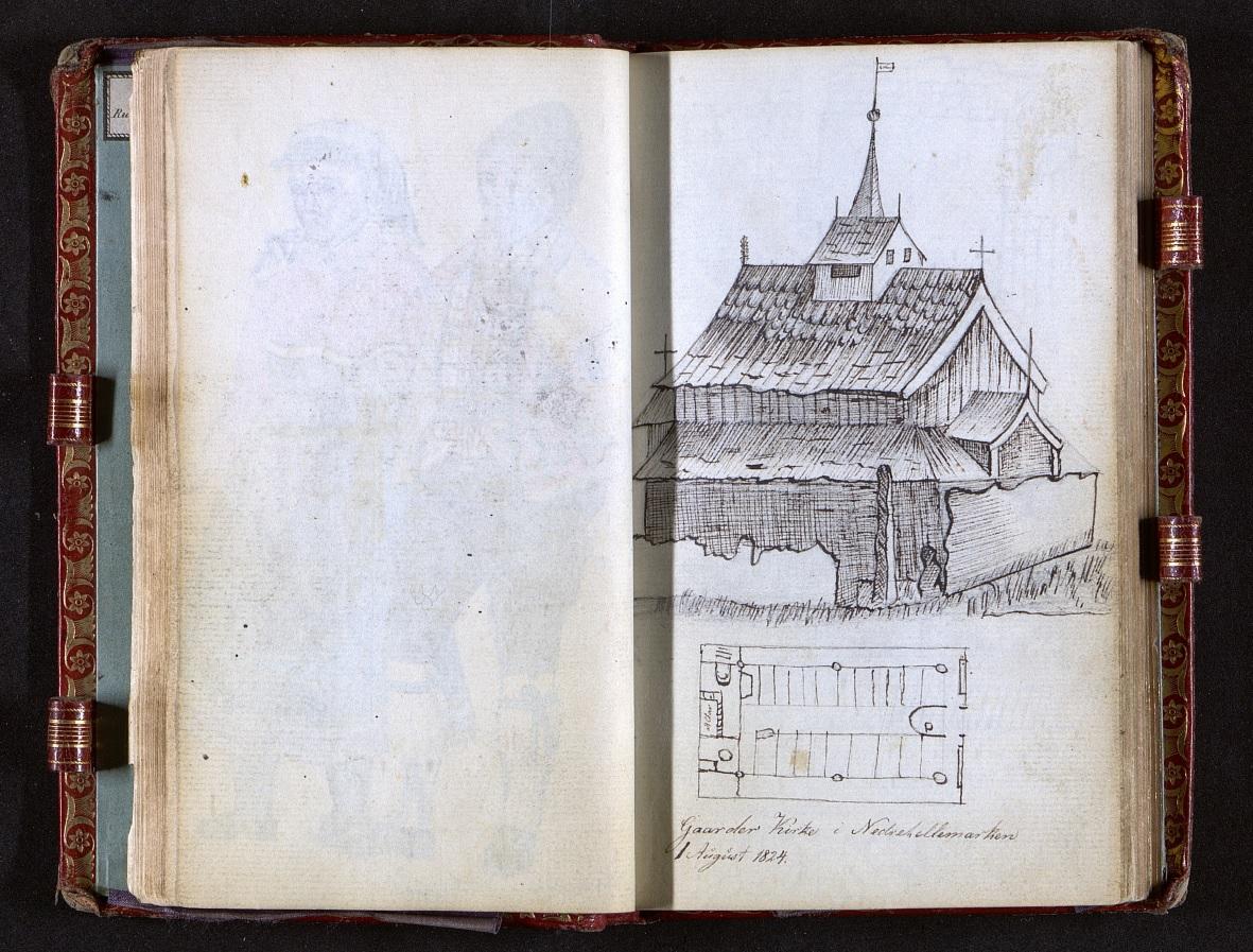 Figur-1-Fayes tegning av Gaarder kirke-1
