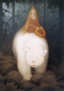 Figur 2: Hvidebjørn Kong Valemon. Th. Kittelsen 1912. Wikipedia Commons.